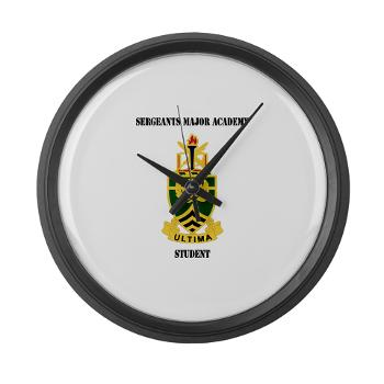 SMAS - M01 - 03 - DUI - Sergeants Major Academy Students with Text - Large Wall Clock