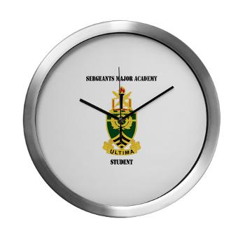 SMAS - M01 - 03 - DUI - Sergeants Major Academy Students with Text -Modern Wall Clock