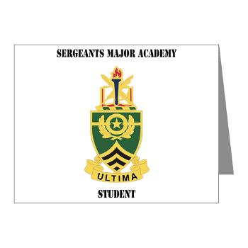 SMAS - M01 - 02 - DUI - Sergeants Major Academy Students with Text - Note Cards (Pk of 20)