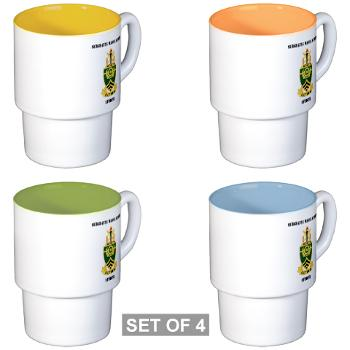 SMAS - M01 - 03 - DUI - Sergeants Major Academy Students with Text - Stackable Mug Set (4 mugs)