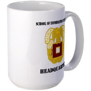 SOITH - M01 - 03 - DUI - School of Information Technology - Headquarter with text - Large Mug