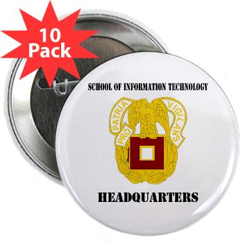 "SOITH - M01 - 01 - DUI - School of Information Technology - Headquarter with text - 2.25"" Button (10 pack)"