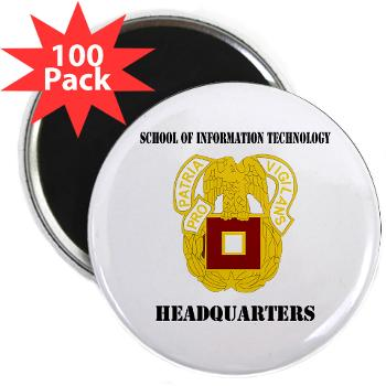 "SOITH - M01 - 01 - DUI - School of Information Technology - Headquarter with text - 2.25"" Magnet (100 pack)"