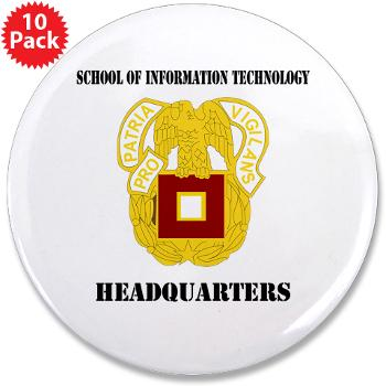 "SOITH - M01 - 01 - DUI - School of Information Technology - Headquarter with text - 3.5"" Button (10 pack)"