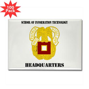 SOITH - M01 - 01 - DUI - School of Information Technology - Headquarter with text - Rectangle Magnet (100 pack)