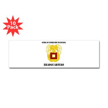 SOITH - M01 - 01 - DUI - School of Information Technology - Headquarter with text - Sticker (Bumper 10 pk)