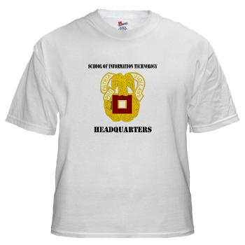 SOITH - A01 - 04 - DUI - School of Information Technology - Headquarter with text - White T-Shirt