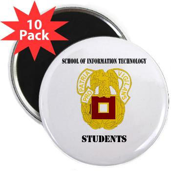 "SOITS - M01 - 01 - DUI - School of Information Technology - Students with text - 2.25"" Magnet (10 pack)"