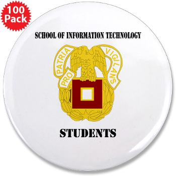 "SOITS - M01 - 01 - DUI - School of Information Technology - Students with text - 3.5"" Button (100 pack)"