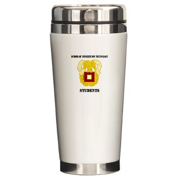 SOITS - M01 - 03 - DUI - School of Information Technology - Students with text - Ceramic Travel Mug