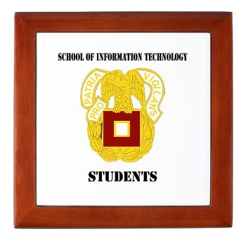 SOITS - M01 - 03 - DUI - School of Information Technology - Students with text - Keepsake Box