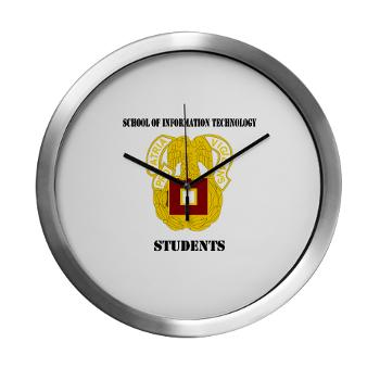 SOITS - M01 - 03 - DUI - School of Information Technology - Students with text - Large Wall Clock