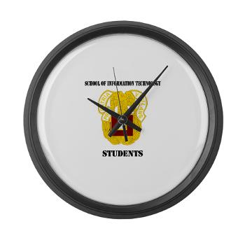 SOITS - M01 - 03 - DUI - School of Information Technology - Students with text - Modern Wall Clock