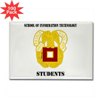 SOITS - M01 - 01 - DUI - School of Information Technology - Students with text - Rectangle Magnet (100 pack)