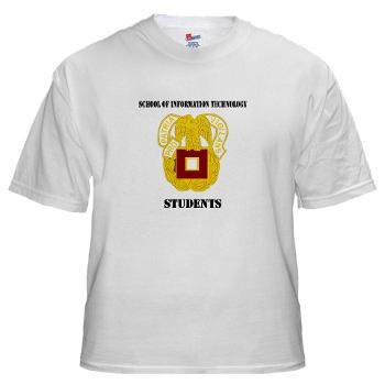 SOITS - A01 - 04 - DUI - School of Information Technology - Students with text - White T-Shirt