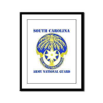 SOUTHCAROLINAARNG - M01 - 02 - DUI - South Carolina Army National Guard With Text - Framed Panel Print