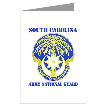 SOUTHCAROLINAARNG - M01 - 02 - DUI - South Carolina Army National Guard With Text - Greeting Cards (Pk of 10)