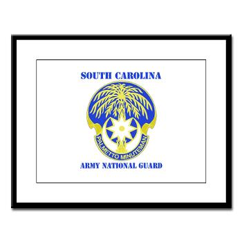 SOUTHCAROLINAARNG - M01 - 02 - DUI - South Carolina Army National Guard With Text - Large Framed Print