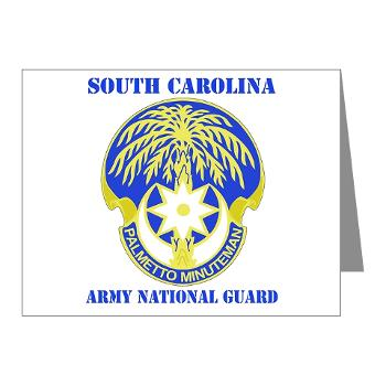 SOUTHCAROLINAARNG - M01 - 02 - DUI - South Carolina Army National Guard With Text - Note Cards (Pk of 20)