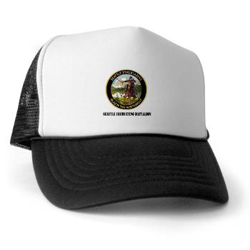 SRB - A01 - 02 - DUI - Seattle Recruiting Battalion with Text Trucker Hat