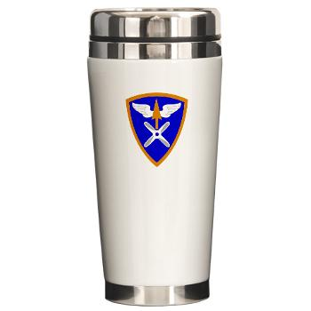 110AB - M01 - 03 - SSI - 110th Aviation Bde Ceramic Travel Mug