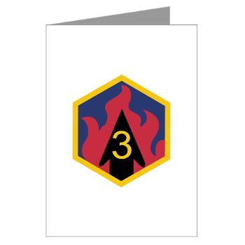 3CB - M01 - 02 - SSI - 3rd Chemical Bde - Greeting Cards (Pk of 20)