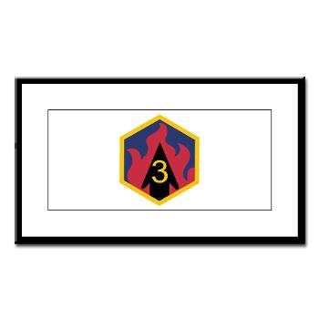 3CB - M01 - 02 - SSI - 3rd Chemical Bde - Small Framed Print