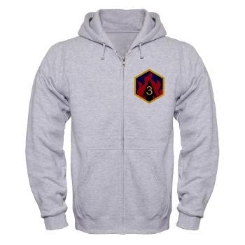 3CB - A01 - 03 - SSI - 3rd Chemical Bde - Zip Hoodie