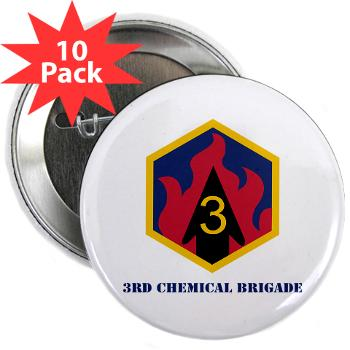 "3CB - M01 - 01 - SSI - 3rd Chemical Bde - 2.25"" Button (10 pack)"