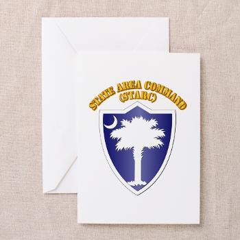 STARC - M01 - 02 - DUI - State Area Command (STARC) with Text - Greeting Cards (Pk of 10)