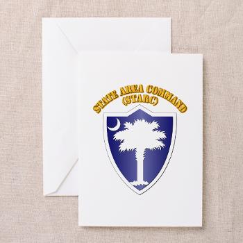 STARC - M01 - 02 - DUI - State Area Command (STARC) with Text - Greeting Cardrds (Pk of 20)