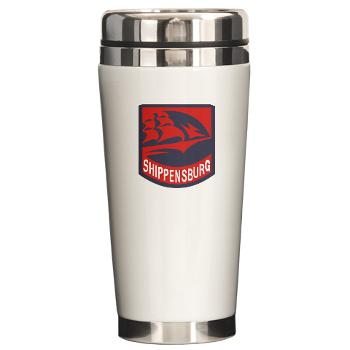 SU - M01 - 03 - SSI - ROTC - Shippensburg University - Ceramic Travel Mug