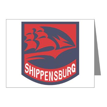 SU - M01 - 02 - SSI - ROTC - Shippensburg University - Note Cards (Pk of 20)
