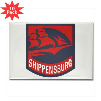 SU - M01 - 01 - SSI - ROTC - Shippensburg University - Rectangle Magnet (10 pack)