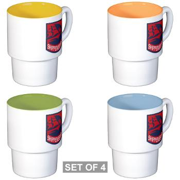 SU - M01 - 03 - SSI - ROTC - Shippensburg University - Stackable Mug Set (4 mugs)