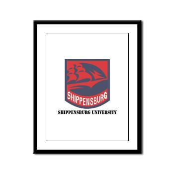 SU - M01 - 02 - SSI - ROTC - Shippensburg University with Text - Framed Panel Print
