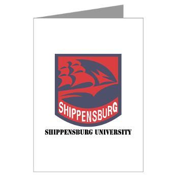 SU - M01 - 02 - SSI - ROTC - Shippensburg University with Text - Greeting Cards (Pk of 10)