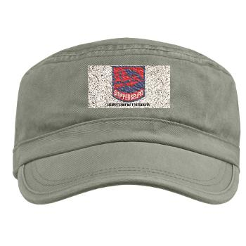 SU - A01 - 01 - SSI - ROTC - Shippensburg University with Text - Military Cap