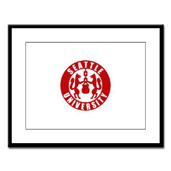 SU - M01 - 02 - SSI - ROTC - Seattle University - Large Framed Print