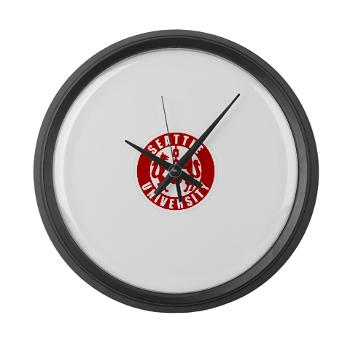 SU - M01 - 03 - SSI - ROTC - Seattle University - Large Wall Clock
