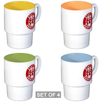 SU - M01 - 03 - SSI - ROTC - Seattle University - Stackable Mug Set (4 mugs)