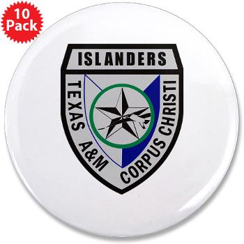 "TAMUCC - M01 - 01 - SSI - ROTC - Texas A&M Unversity-Corpus Christi - 3.5"" Button (10 pack)"