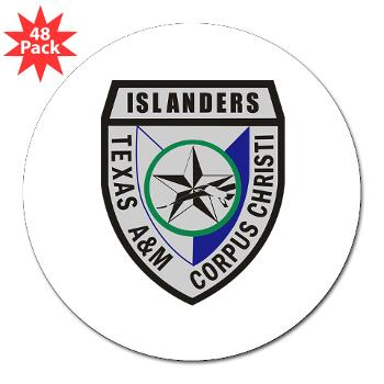 "TAMUCC - M01 - 01 - SSI - ROTC - Texas A&M Unversity-Corpus Christi - 3"" Lapel Sticker (48 pk)"