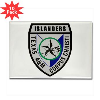 TAMUCC - M01 - 01 - SSI - ROTC - Texas A&M Unversity-Corpus Christi - Rectangle Magnet (10 pack)