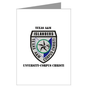 TAMUCC - M01 - 02 - SSI - ROTC - Texas A&M Unversity-Corpus Christi with Text - Greeting Cards (Pk of 20)