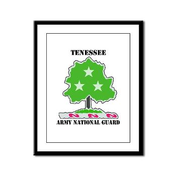 TNARNG - M01 - 02 - DUI - TENESSEE Army National Guard with text - Framed Panel Print