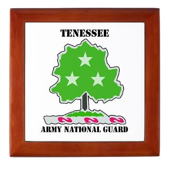 TNARNG - M01 - 03 - DUI - TENESSEE Army National Guard with text - Keepsake Box