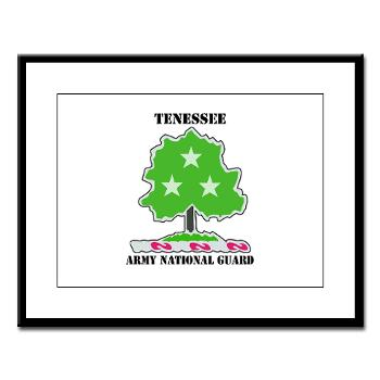 TNARNG - M01 - 02 - DUI - TENESSEE Army National Guard with text - Large Framed Print