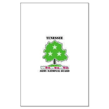 TNARNG - M01 - 02 - DUI - TENESSEE Army National Guard with text - Large Poster