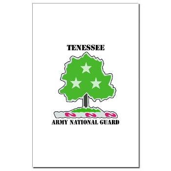 TNARNG - M01 - 02 - DUI - TENESSEE Army National Guard with text - Mini Poster Print